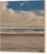 Ocean Clouds Wood Print