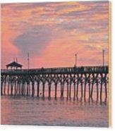 Ocean Crest Pier Wood Print