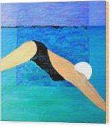 Ocean Dive Wood Print