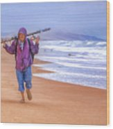 Ocean Fisherman Wood Print