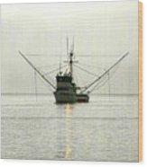 Ocean Fishing Boat Wood Print