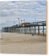 Ocean Fishing Pier Wood Print