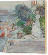 Ocean Front, Gloucester, Massachusetts Wood Print