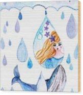 Ocean Girl Wood Print