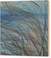 Ocean Grasses In The Wind Wood Print