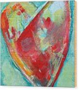 Ocean Heart Wood Print