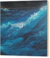 Ocean II Wood Print by Patricia Motley
