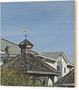 Ocean Isle Fish Weathervane Wood Print
