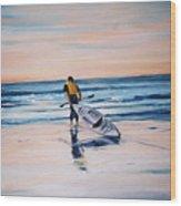 Ocean Kayak Wood Print