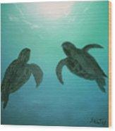 Ocean Light Wood Print
