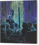 Ocean Lounge Jazz Night Wood Print