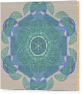 Ocean Metatron Wood Print