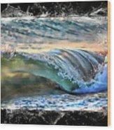 Ocean Motion Wood Print