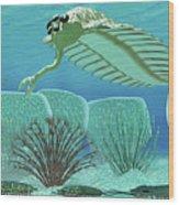 Ocean Opabinia Wood Print