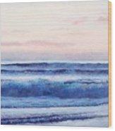 Ocean Painting 'dusk' By Jan Matson Wood Print