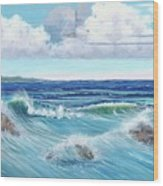 Ocean Pyramid Wood Print