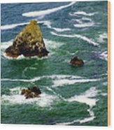 Ocean Rock Wood Print