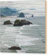 Ocean Rocks Off The Oregon Coast Wood Print