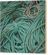 Ocean Ropes Wood Print