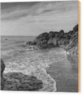 Ocean Rush Wood Print