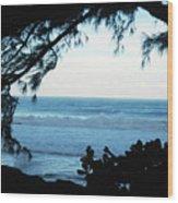 Ocean Silhouette Wood Print