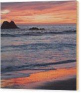 Ocean Sky Awash In Color Wood Print