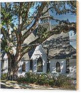 Ocean Springs Church Wood Print