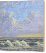 Ocean Storm Sunrise Wood Print