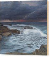 Ocean Stormfront Maroubra Wood Print