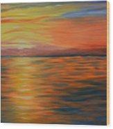 Ocean Sunrise- Oil Painting- Abstract Art Wood Print