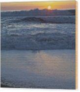 Ocean Wave Kisses The Sun Wood Print