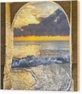 Ocean View Wood Print by Debra and Dave Vanderlaan