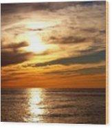 Ocean View Sunset Wood Print