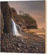 Ocean Waterfall Wood Print