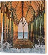 Ocean Window Wood Print