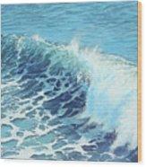 Ocean's Might Wood Print