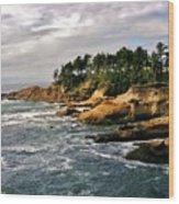 Oceanside - Depoe Bay Wood Print
