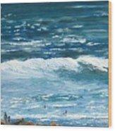 Oceanside 3 O'clock Wood Print