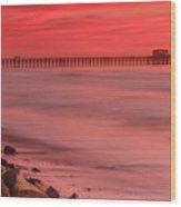 Oceanside Pier Sunset 4 Wood Print