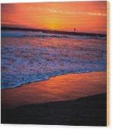 Oceanside Sunset Wood Print
