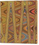 Oceanside Surfer Abstract. Wood Print