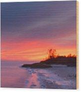 Ochlockonee Bay Sunrise Wood Print