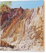 Ochre Pits Colours, West Mcdonald Ranges Wood Print