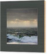 Ochre Sky's And Angry Seas 2 Wood Print