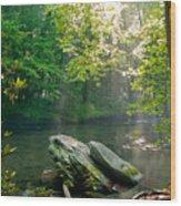 Oconaluftee River. Wood Print