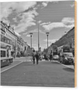 O'connell Street In Dublin Wood Print