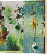 Ocracoke Fish Wood Print