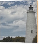 Ocracoke Island Lighthouse Wood Print