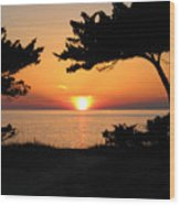 Ocracoke Island Winter Sunset Wood Print