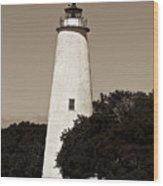 Ocracoke Lighthouse Wood Print